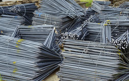 Steel material for concrete strengthening Stock Photos