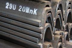 Steel materials products in cross section Royalty Free Stock Image