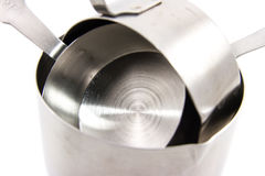 Steel measuring cups Stock Photos
