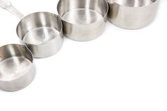Steel measuring cups Stock Image