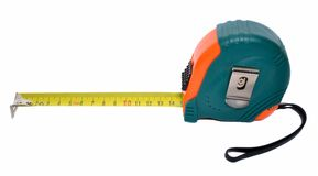Steel measuring tape Stock Photography