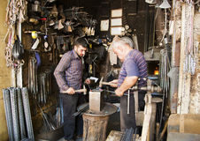 Steel merchants stock images