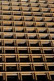 Steel mesh. A stack with structural steel mats Royalty Free Stock Photo