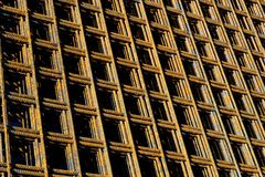 Steel mesh. A stack with structural steel mats Royalty Free Stock Photography