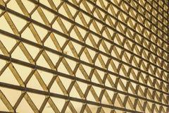 Steel mesh barriers between doors. Iron netting blocking the door between corridors Stock Images
