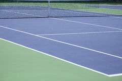 Steel mesh fence of the tennis courts Stock Image