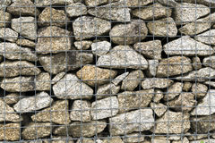 Steel mesh of gabion wall Royalty Free Stock Image