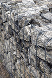 Steel mesh of gabion wall Royalty Free Stock Photo