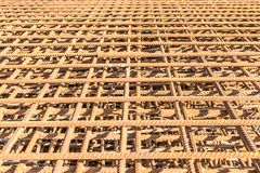 Steel mesh made of old rusted fittings royalty free stock photos