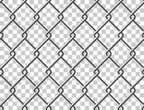 Steel mesh metal fence seamless transparent structure Stock Images