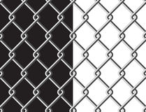 Steel mesh metalic fance black and white background seamless tex Stock Photos