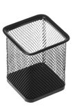 Steel Mesh Pen Stand Isolated Stock Image