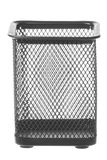 Steel Mesh Pen Stand Isolated Stock Photo