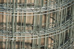 Steel mesh roll Royalty Free Stock Photo