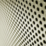 Steel mesh screen. A steel mesh screen blurring into the distance Stock Images