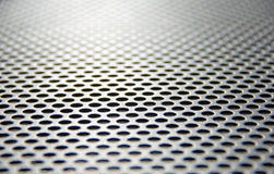 Steel mesh screen blur foreground and distance Royalty Free Stock Photos