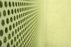 Steel mesh screen II. A steel mesh screen blurring into the distance Stock Images