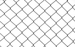 Steel mesh. With white background Stock Photo