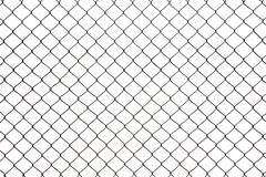 Steel mesh wire fence isolated Stock Images