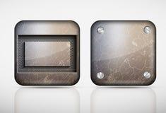 Steel metal app icons Stock Photos