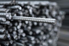 Steel metal armature at the building place Stock Photo