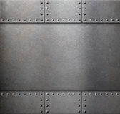 Steel metal armour background Royalty Free Stock Image