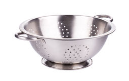 Steel metal bowl. Stock Image