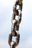 Steel metal chain links segment Stock Images