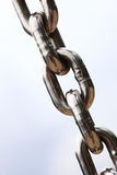 Steel metal chain links segment Royalty Free Stock Photography