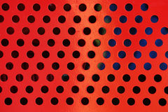 Steel metal with circle perforated holes Royalty Free Stock Photography