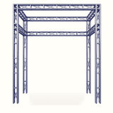 Steel metal framework construction design project on white Stock Image