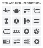 Steel metal icon Stock Photography