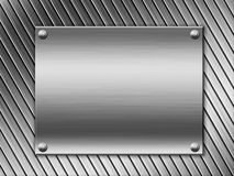Steel metal plate background Stock Photography