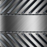 Steel metal plate background Stock Photo