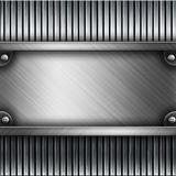 Steel metal plate background Stock Photos