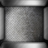 Steel metal plate background Royalty Free Stock Photo
