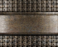Steel metal plate background Royalty Free Stock Image