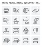 Steel production icon. Steel and metal production industry vector icon set Royalty Free Stock Image