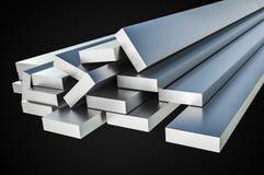 Steel metal profiles in corner shape - industry concept Stock Photo