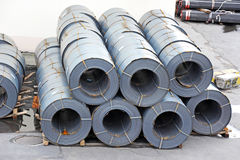 Steel metal-roll Stock Photos