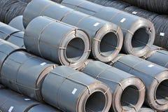 Steel metal roll Stock Photos