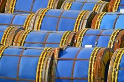Steel metal roll Stock Photo