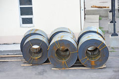 Steel metal-roll Royalty Free Stock Images