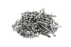 Steel metal shavings Royalty Free Stock Photos