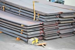 Steel metal sheet Stock Images