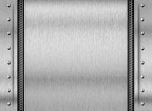 Steel metal texture plate background Royalty Free Stock Photos