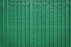 Steel metallic old door, green grunge metal Stock Image