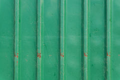 Steel metallic old rusty door, green grunge metal Royalty Free Stock Images