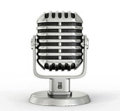Steel microphone Stock Images