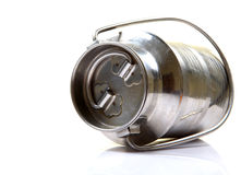 Steel milk can Stock Photo